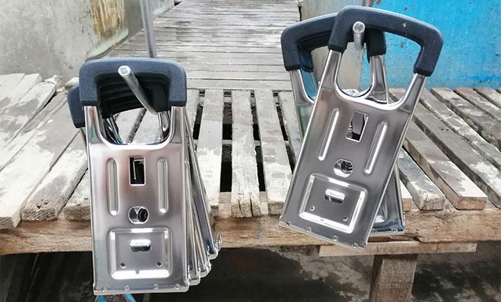 Electropulido de acero inoxidable. piezas de acero inoxidable electropulidas
